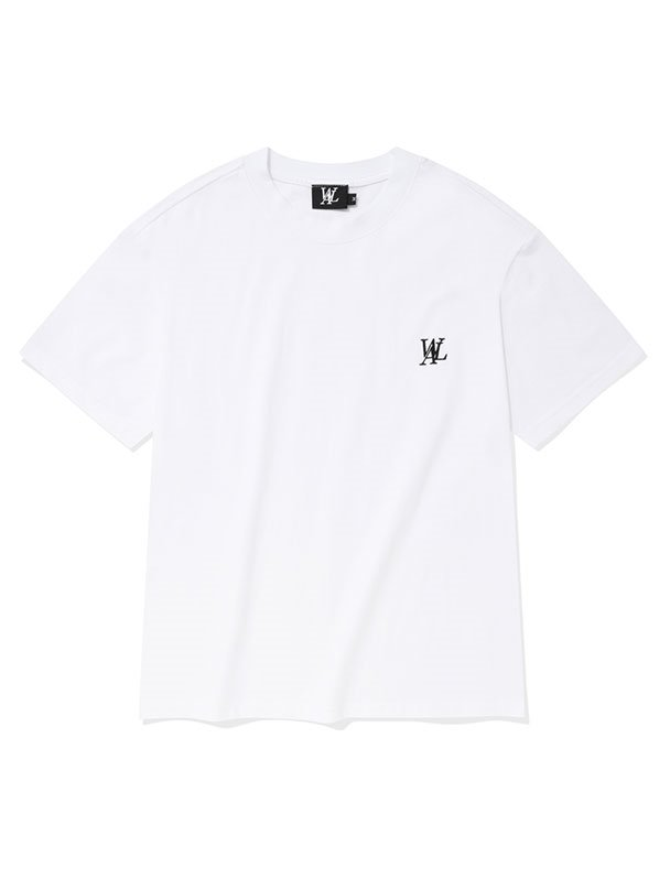 Signature embroidery short sleeved T-shirt - WHITE