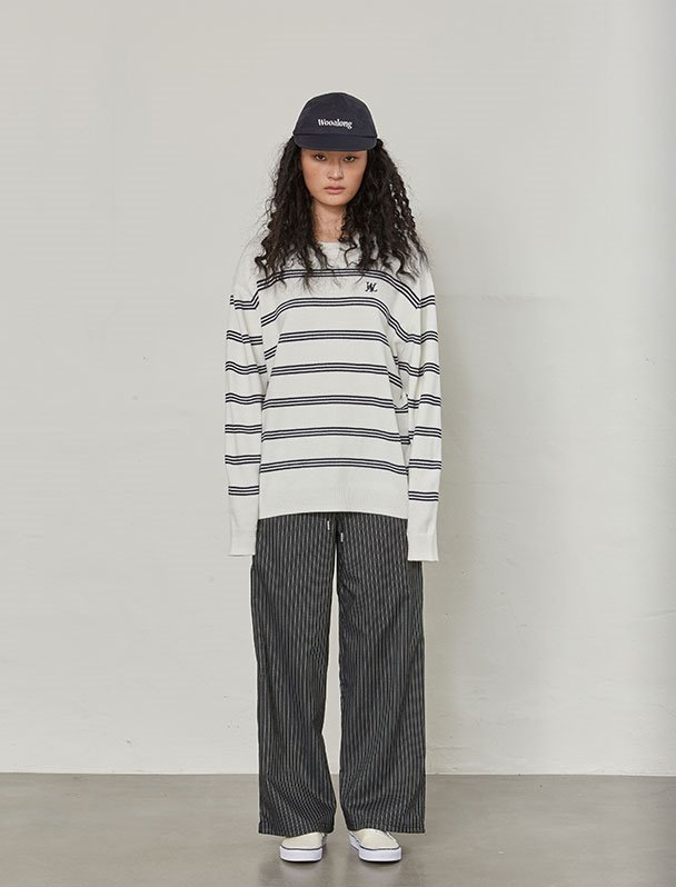 Natural stripe knit - IVORY