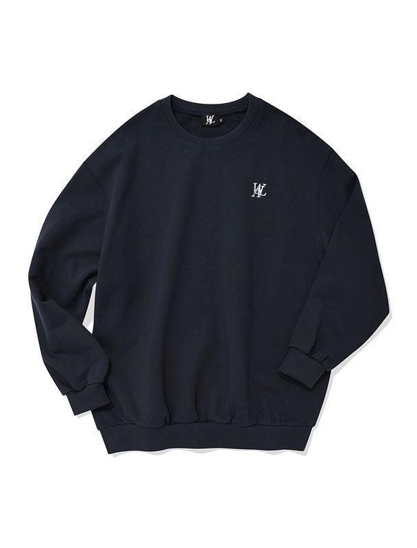 Signature sweatshirt - NAVY[Sszie,4/21예약배송]