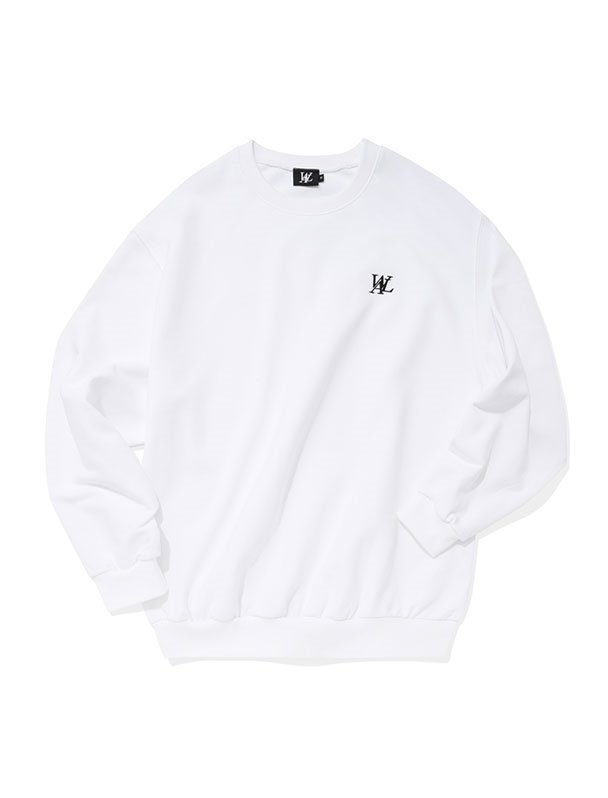 Signature sweatshirt - WHITE[Sszie,4/21예약배송]