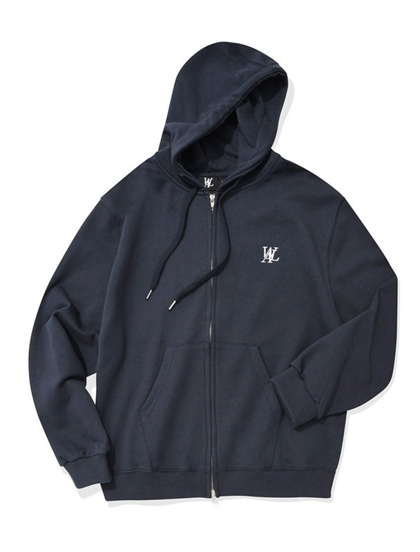 Signature hood zip-up - NAVY[Ssize,4/21예약배송]